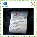 Étiquette de lavage de chiffon en satin / soie personnalisé en usine (JP-CL057)