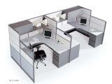주문을 받아서 만들어진 현대 강화 유리 높은 칸막이벽 워크 스테이션 (HF-LW103)