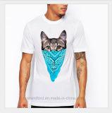 차가운 고양이 OEM 백색 100%년 면 최신 Saling 남자의 t-셔츠