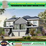 Стальная дом рассказа структуры 2 наилучшим образом изолированная солнечная деревянная Prefab