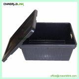 Scomparto mobile solido industriale di plastica di grande memoria del volume con il coperchio