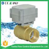 """Dn25 2 vávula de bola motorizada mini agua de la manera NSF61 Ss304 12V 1 """" eléctrica"""