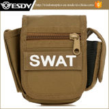 Esdy Petit sac carré Camouflage Waist Pack Pack militaire multifonctionnel