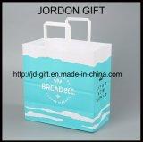 La stampa variopinta bianca del Kraft elimina il sacchetto piano della maniglia con il vostro proprio marchio