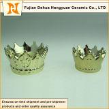 Vendita calda il supporto di candela di ceramica di figura della parte superiore