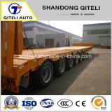 Les essieux 3/4 40-100t Transport de matériel lourd hydraulique faible lit semi-remorque