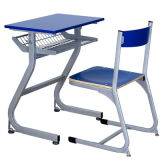 Estudante de madeira escura única mesa e cadeira/mobiliário escolar (FS-3214)