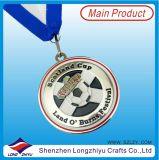 金属3Dはサッカーゲームまたはフットボールの競争のためのメダルを遊ばす