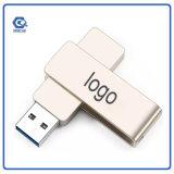 Movimentação portátil do flash do USB da vara da memória do anel chave do metal