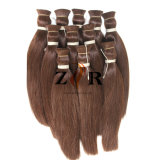 브라질 머리 부피 자연적인 색깔 자연적인 당겨진 머리 연장