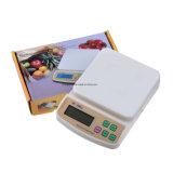 Banheira de venda de produtos hortícolas Frutas Eletrônico Balança de cozinha Digital Sf-400A