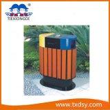 Ящики парка, ящик погани, мусорная корзина для места парка, напольных мусорных корзин