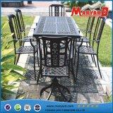 식탁 6 의자는 옥외 잔디밭 야드 정원 가구를 놓았다