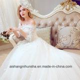 Невесты в браке на лодке горловины вышивка роскошные свадебные платья