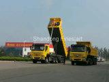 Sinotruk HOWO 무거운 팁 주는 사람 트럭 트레일러 덤프 트럭 세미트레일러