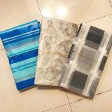파란 수평한 줄무늬 디자인 PEVA는 목욕탕을%s 샤워 커튼을 방수 처리한다