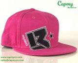 Розовый поставщик шлема крышки Snapback хлопка