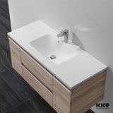 Conception acrylique moderne Solid Surface salle de bains Lavabo pour Hôtel (KKR-1376)