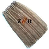 Band van het Haar van de Kleur van twee Toon de Natuurlijke Getrokken Europese in de Uitbreiding van het Menselijke Haar