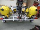 Aqualand 17.5feet 5.3mの膨脹可能な軍隊レスキューするかHypalonのゴム製モーターボート(AQL-530)は