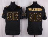 Pullover in bianco di gioco del calcio di New York Wilkerson Gastineau Namath Fitzpatrick Johnson