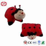 Ammortizzatore in pieno farcito del cuscino 2in1 dell'insetto del compagno di sonno di morbidezza del Ladybug