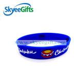 Braceletes de silicone de 1/4 polegada com cores cheias
