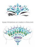 Nova Jóia Facial Mask tatuagem autocolantes Resina Cristal Face sobrancelhas autocolante da GEMS (J65)