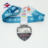 Longzhiyu 12yearsの製造業者の良質の習慣の只乗りの競争は金属メダルマラソンメダルを遊ばす