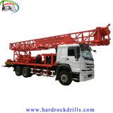 トラックによって取付けられる井戸の掘削装置400mのディーゼル機関の主導のハードロックの柔らかい砂の試錐孔ジャンボ鋭い装置
