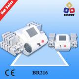 Laser 4D Lipolaser de 528 diodos que adelgaza la máquina para formar gordo de la pérdida y de la carrocería