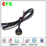 conector de cable del Pin de 4pin Pogo para la máquina del negro de humo