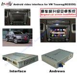 Video casella dell'interfaccia di percorso Android di GPS per il VW Touareg (RNS850 SISTEMA), collegamento dello specchio, schermo del getto, controllo di voce