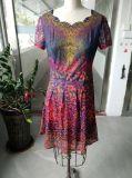 Vestito delle donne sottili decorative stampate Colourful di estate