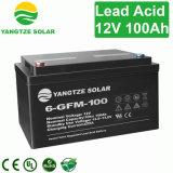 12V Navulbare Batterij van de Cyclus van het 100ahLood de Zure Diepe voor de Telecommunicatie van het Zonnestelsel UPS