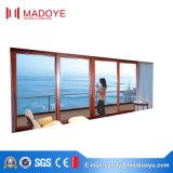 Сделано в раздвижной двери Китая алюминиевой с шторками