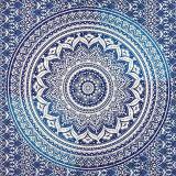 Il CDC 100% del poliestere ha stampato la sciarpa quadrata con il disegno della mandala (H18)