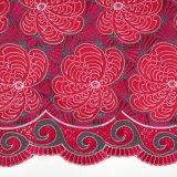 Tessuto dentellare del merletto del voile della tessile di cotone di colore di Fushia