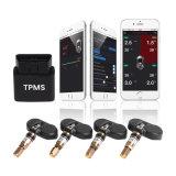 APP Bluetooth van het ControleSysteem van de Druk van de Band van OBD TPMS de Mobiele Systemen van het Alarm van de Auto van de Vertoning