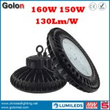 Warehouse Factory Workshop Stade Sport Court 130lm / W Waterproof 150W LED High Bay Lamp