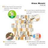 Het in het groot Mozaïek van het Gebrandschilderd glas van de Tegel van Backsplash van de Keuken van het Bouwmateriaal