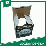 Boîte de présentation du football de carton ondulé avec le guichet