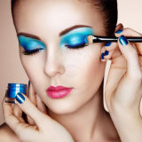 El brillo resistente solvente cosmético para el ojo, suelta el polvo del sombreador de ojos del brillo