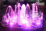 Hermosa colorida de la música de baile al aire libre Jardín fuente de agua
