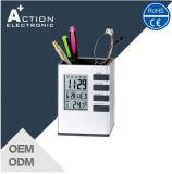 Feder-Halter-Tisch-Alarmuhr mit Temperatur