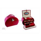 Cadre de Bijou en Cuir Rouge Classique Fabriqué à la Main de Tailles Importantes de Cocro