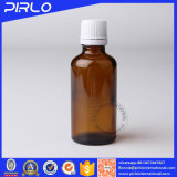 5ml 10ml 15ml bernsteinfarbige Farben-Glas-wesentliches Öl-Flasche mit Tamperproof offensichtlicher Schutzkappen-und Öffnungs-Reduzierstück-wesentliches Öl-Flasche