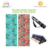 Органическая Non циновка йоги выскальзования комбинированная с интегрированный полотенцем самым лучшим для горячей йоги/Bikram, Pilates, йоги