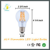 Novo Design Neodymium Glass A19 / A60 Nostalgia LED Filament Bulb