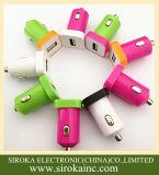 Горячие продавая 2 в 1 заряжателе автомобиля с 2 двойными портами USB